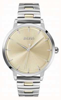 Boss | marina des femmes | bracelet en acier inoxydable | cadran en or | 1502500
