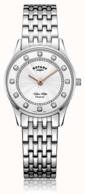 Rotary | acier inoxydable ultra mince pour femmes | cadran en nacre LB08300/01/D