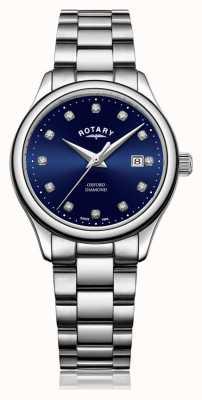 Rotary | oxford des femmes | acier inoxydable | cadran bleu sunray | LB05092/05/D