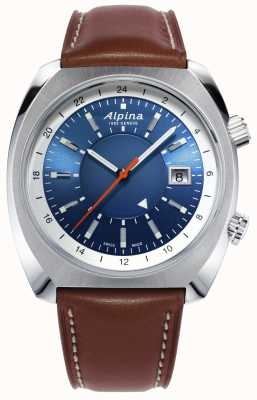 Alpina | startimer pilote heritage | automatique | cuir marron | AL-555LNS4H6