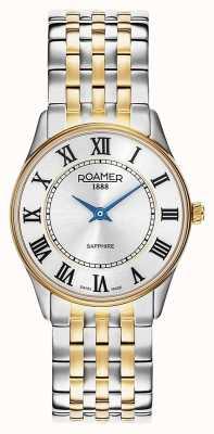 Roamer | des femmes | sonate | bracelet deux tons | cadran argenté | 520820 47 15 50