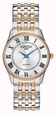 Roamer | sonate féminine | acier inoxydable deux tons | cadran blanc | 520820 49 15 50
