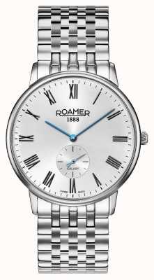 Roamer | éléments pour hommes | bracelet en argent inoxydable | cadran noir | 650810 41 55 50
