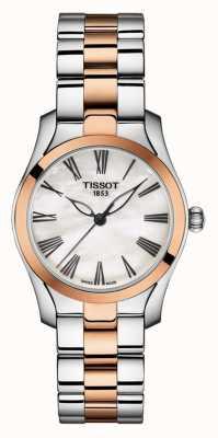 Tissot | bracelet bicolore pour femme | cadran en nacre | T1122102211301