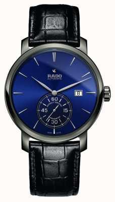 Rado | xl diamaster petite seconde | cuir noir | cadran bleu | R14053206
