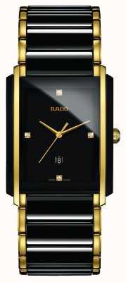 Rado Montre à cadran carré noir en céramique haute technologie avec diamants intégrés R20204712