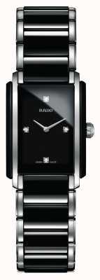 Rado Montre à cadran carré en céramique high-tech avec diamants intégrés R20613712