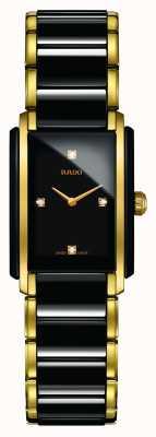 Rado Montre à cadran carré en céramique high-tech avec diamants intégrés R20845712