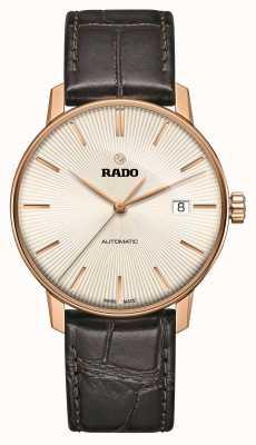 Rado Montre classique automatique à bracelet en cuir marron Coupole R22861115