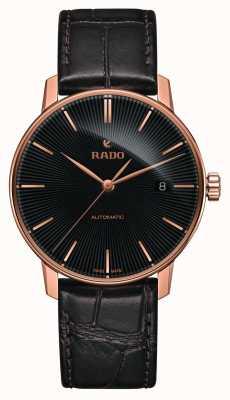 Rado | coupole classique automatique | cuir marron | cadran noir | R22861165
