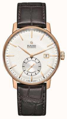 Rado | coupole classique automatique | cuir marron | cadran blanc | R22881025