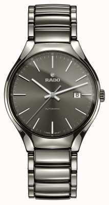 Rado Véritable montre à cadran gris céramique haute technologie plasma automatique R27057102