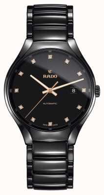 Rado Véritable montre en céramique haute technologie à plasma avec diamants R27056732