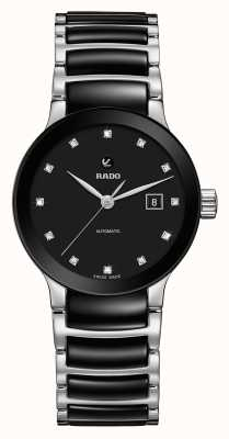Rado Montre bracelet automatique en céramique diamants Centrix R30009752