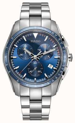 Rado Montre XXL hyperchrome chronographe en acier inoxydable à cadran bleu R32259203