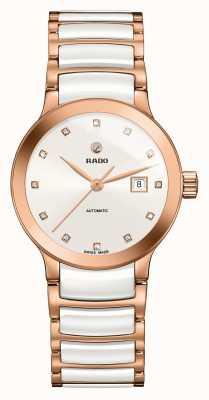 Rado | centrix diamants automatiques | céramique high-tech | blanc R30183742