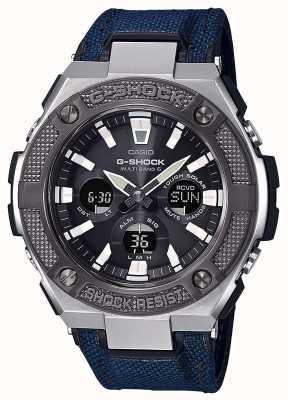 Casio G-shock g-acier | bracelet en cordura bleu | GST-W330AC-2AER