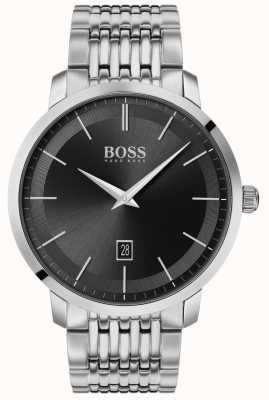 Boss | premium classique pour hommes | acier inoxydable | cadran noir | 1513746