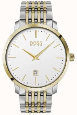 Boss | hommes | prime classique | deux tons | cadran argenté | 1513747