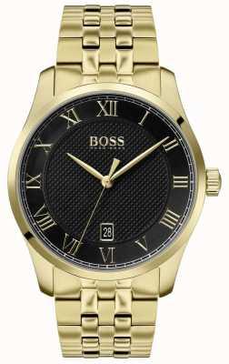 BOSS Master | bracelet pvd en or | cadran noir | 1513739