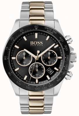 Boss | hommes | héros sport lux | bracelet deux tons | cadran noir | 1513757