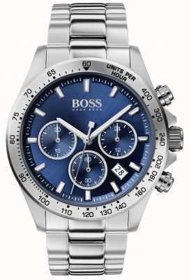 BOSS | héros sport masculin lux | bracelet en acier | cadran bleu | 1513755