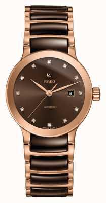 Rado | centrix diamants automatique | céramique high-tech | marron R30183752
