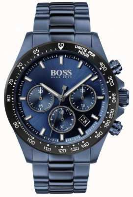 BOSS | hommes | héros sport lux | bracelet en acier bleu | cadran bleu | 1513758