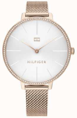 Tommy Hilfiger | kelly des femmes | bracelet en maille d'or rose | cadran blanc | 1782115