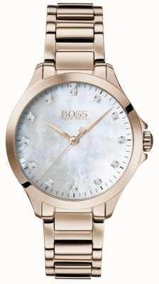 Boss | diamants pour elle | or rose | nacre | 1502523