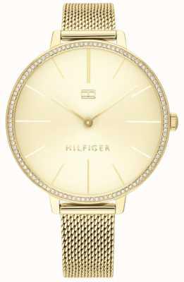 Tommy Hilfiger | kelly des femmes | bracelet en maille d'or | cadran en or | 1782114