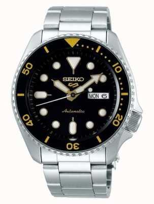Seiko 5 sport | sports | automatique | cadran noir et jaune SRPD57K1