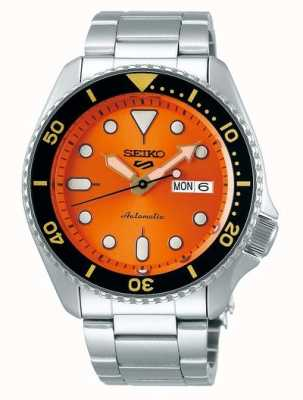 Seiko 5 sport | sports | automatique | cadran orange | acier inoxydable SRPD59K1