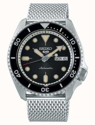 Seiko 5 sport | costumes | automatique | cadran noir | maille d'acier SRPD73K1