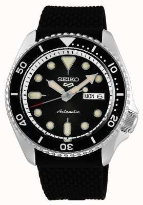 Seiko 5 sport | costumes | automatique | cadran noir | Caoutchouc noir SRPD73K2