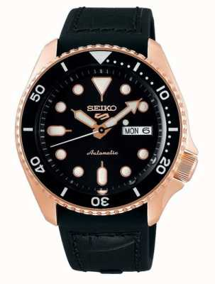 Seiko 5 sport | spécialiste | automatique | or rose et noir SRPD76K1