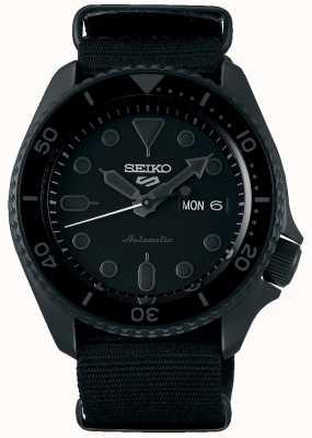 Seiko 5 sport | rue | automatique | cadran noir | nato noir SRPD79K1