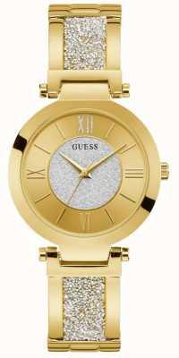 Guess | aurore des femmes | bracelet en cristal d'or | cadran en or | W1288L2