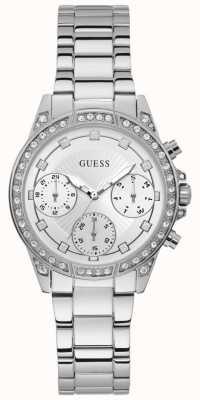 Guess | gemini femmes | bracelet en acier inoxydable | cadran argenté | W1293L1
