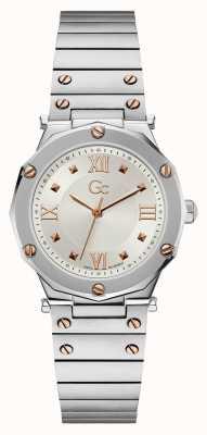 Gc   dame d'esprit   bracelet en acier inoxydable   cadran argenté   Y60001L1MF