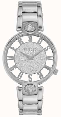 Versus Versace | kirstenhof des femmes | bracelet en acier argenté | cadran scintillant VSP491319