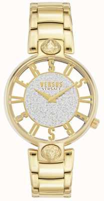 Versus Versace | kirstenhof des femmes | bracelet plaqué or | cadran scintillant VSP491419