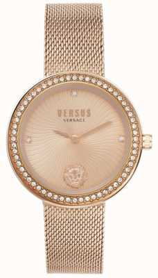 Versus Versace | léa femmes | bracelet en maille d'or rose | cadran en or rose | VSPEN0919