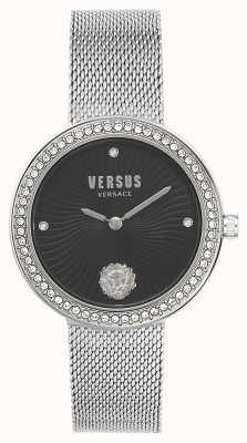 Versus Versace | léa femmes | bracelet en maille d'argent | cadran noir | VSPEN0719