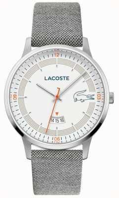 Lacoste | madrid des hommes | bracelet en cuir gris | cadran blanc | 2011031