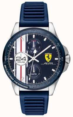 Scuderia Ferrari | pilota hommes | bracelet en caoutchouc bleu | cadran bleu chronographe | 0830660