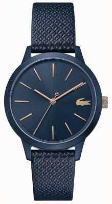 Lacoste | 12.12 femmes | bracelet en cuir bleu | cadran bleu | 2001091