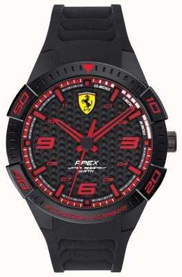 Scuderia Ferrari | apex des hommes | bracelet en caoutchouc noir | cadran noir / rouge | 0830662