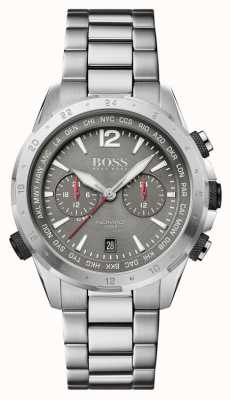 BOSS   nomade   chronographe   bracelet en acier   cadran gris   1513774