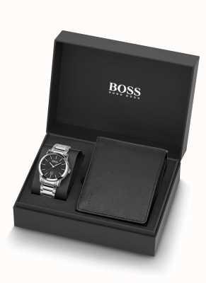 Boss | hommes | ensemble montre et cuir noir | 1570093